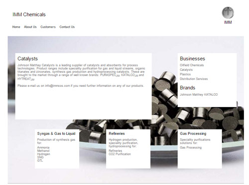 Chemical company business page